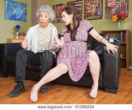 Aggressive Pregnant Wife