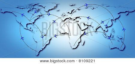 Flight routes