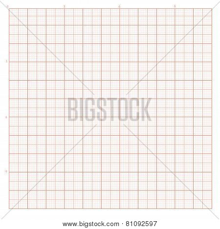 Vector background with red graph paper for engineering work. poster