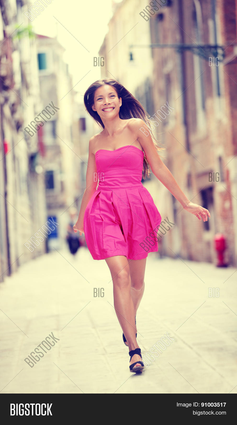 d68324562f1 Summer Dress. Happy Image & Photo (Free Trial) | Bigstock