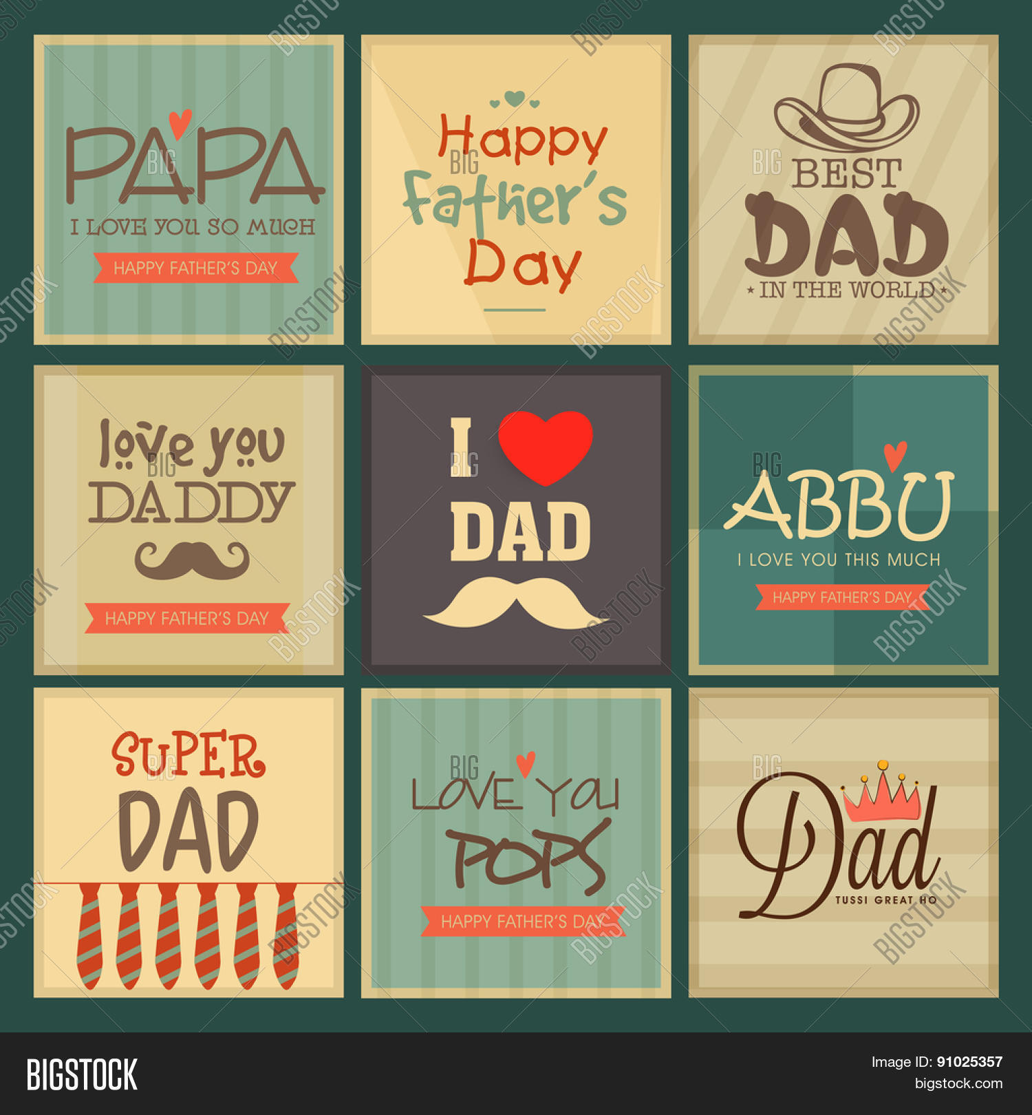 Greeting Cards Set Vector Photo Free Trial Bigstock