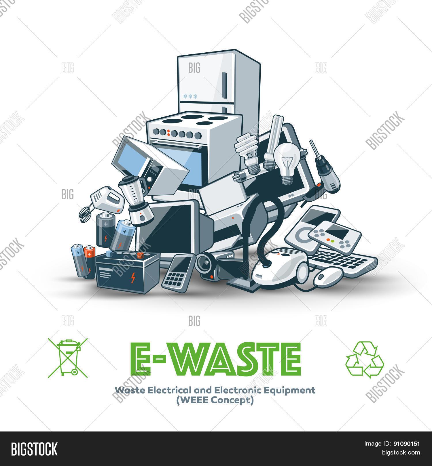 E Waste Pile Vector Photo Free Trial Bigstock