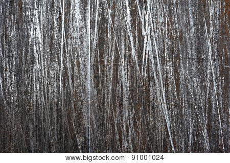 Brushed steel sheet with scratches background, texture