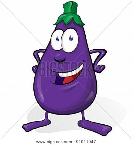 Eggplant Cartoon