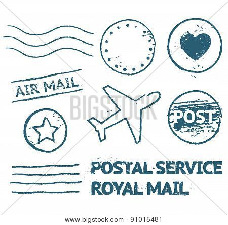 Postal Mail Stamp Set
