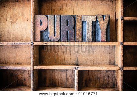 Purity Concept Wooden Letterpress Theme