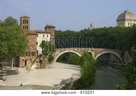 Medieval Castle And Bridge.
