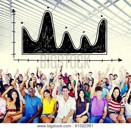 Diagram Parabola Investment Equation Graph Concept
