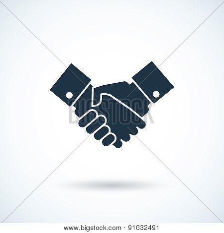 Handshake shadow icon