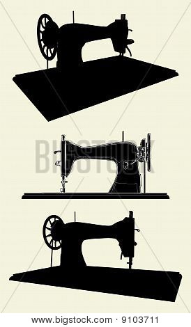 Singer Sewing Machine Vector