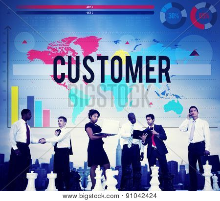 Customer Buyer Business Marketing Service Concept poster