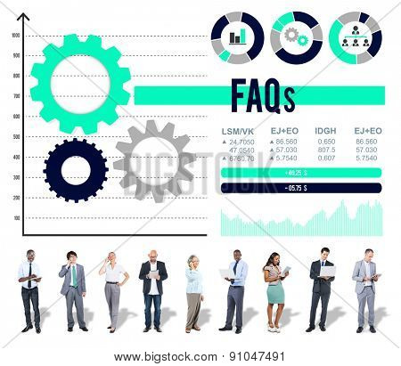 Feequently Asked Questions Information Service Concept