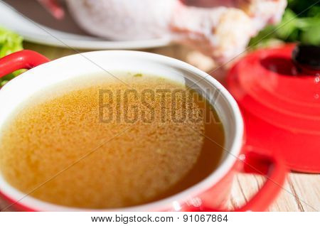 Chicken Broth, Bouillon, Clear Soup.