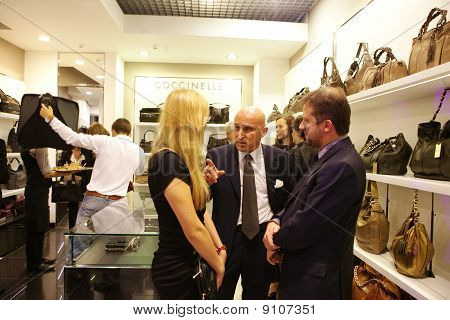 Coccinelle boutique opening on September 16, 2010 in Minsk, Belarus