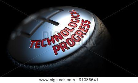 Technological Progress on Black Gear Shifter.
