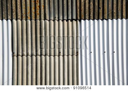 Corrugated iron fence background