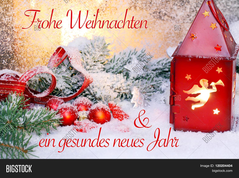 Frohe Weihnachten Und Gesundes Neues Jahr.Christmas Card New Image Photo Free Trial Bigstock