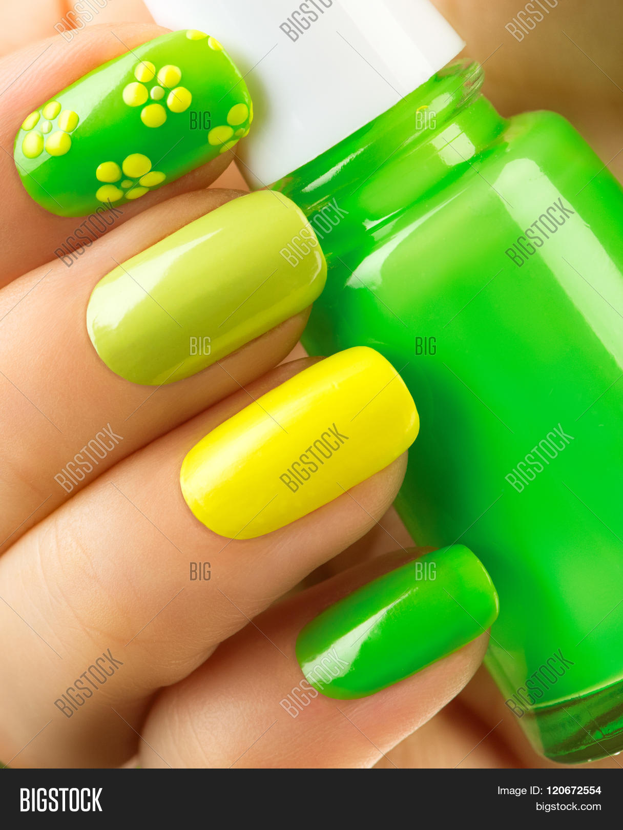 Spring Green Manicure Image & Photo (Free Trial) | Bigstock