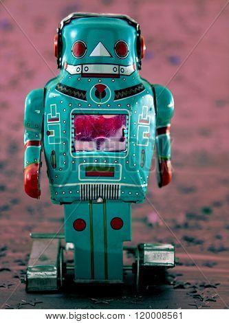 toy robot on mars