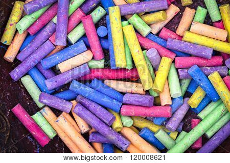 lots of color chalk