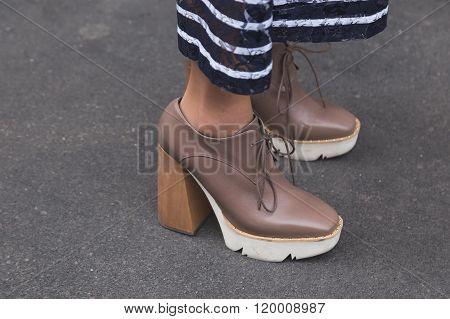Detail Of Shoes At Milan Women's Fashion Week Fall/winter 16/17