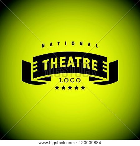 Vector theatre and ballet perfomance logo template design. Artistic perfomance insignia sample. Advertising icon, graphic design, leaflet, flyer and poster elements.
