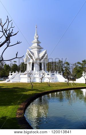 Part of the White Temple, Chiang Rai Thailand