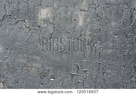 Weathered Gray Metal Wall Texture.