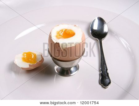 Soft Boiled Egg & Stainless Steel Spoon