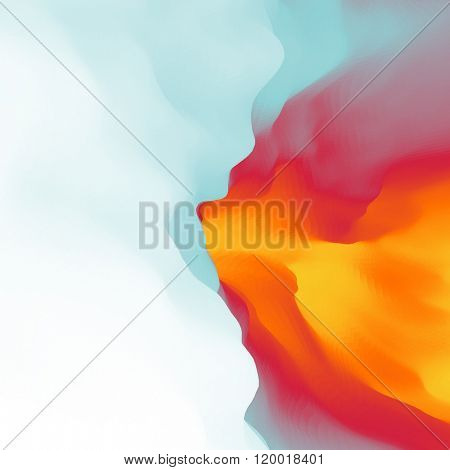 The Fire With Smoke. Abstract background. Modern pattern. Vector Illustration For Your Design.