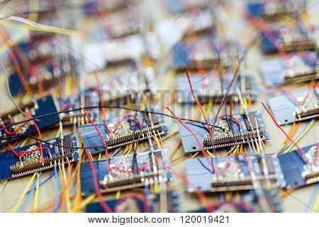 Many Chips Waiting To Be Soldered Onto A Board