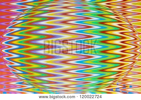 Multi Color Flexible Straws  Circle Pattern With Effects Wave