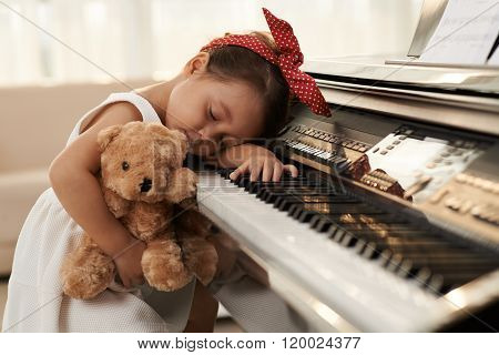 Exhausted of playing