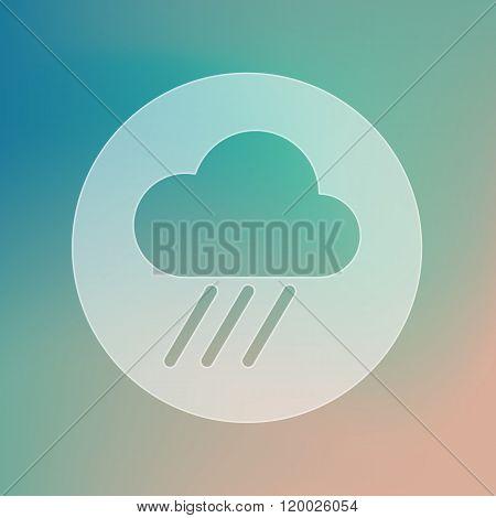 Rain Cloud Transparent Icon. Downpour. Weather