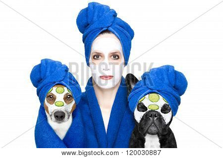 Wellness Beauty Mask Girl And Dog