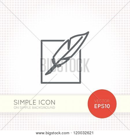 Thin line design vector universal pen icon. Elements for user interface.