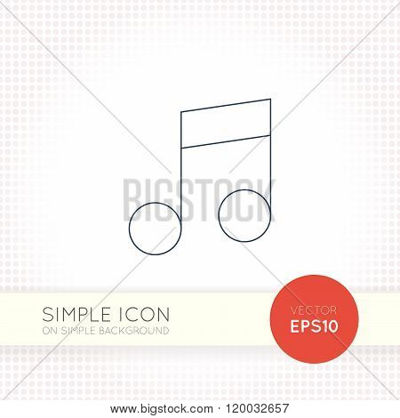 Extra thin line design vector universal musical notes icon. Elements for user interface.