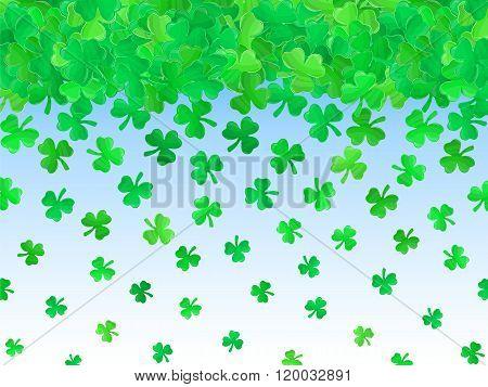 Patricks Day Green Clover Background Cartoon 2