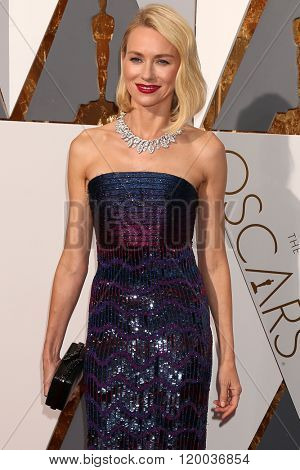 LOS ANGELES - FEB 28:  Naomi Watts at the 88th Annual Academy Awards - Arrivals at the Dolby Theater on February 28, 2016 in Los Angeles, CA