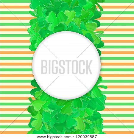 Patricks Day Green Clover Frame Cartoon 4