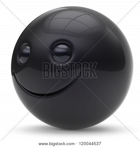 Smile face head ball cheerful sphere emoticon cartoon smiley happy decoration cute black. Smiling funny joyful person laughing joy character toy good avatar