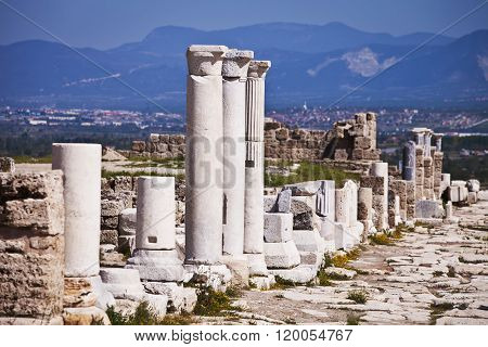 Columns Along Main Road Into Laodicea