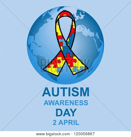 Autism awareness day design