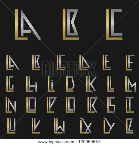 Letter L with alphabet