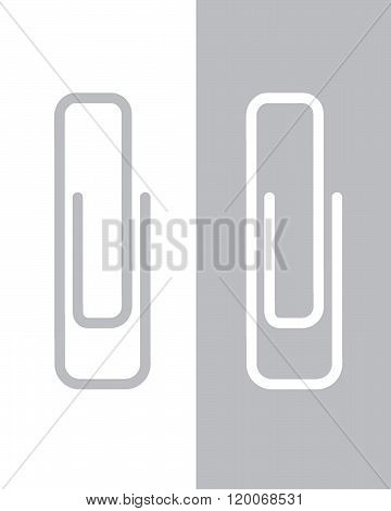 Vector paper clip set in colour and reverse