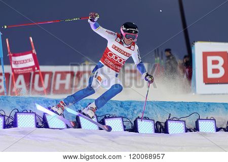 Skier Frida Hansdotter Jumping At A Slalom Event