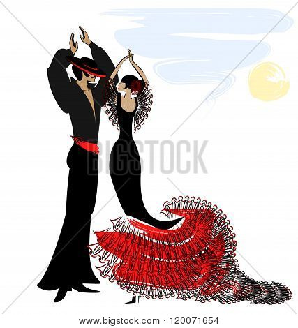 image of couple flamenco