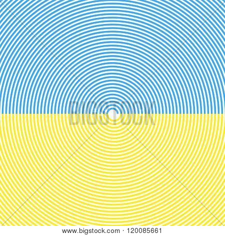 Spiral Background. Sky And Sand Beach. Summer Colors. Vector