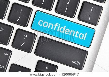 Keyboard  Button Written Word Confidental