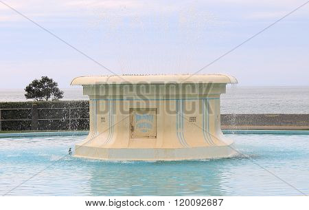 Napier, NZ - March 6, 2015: The iconic art deco Tom Parker Fountain located on Marine Parade.